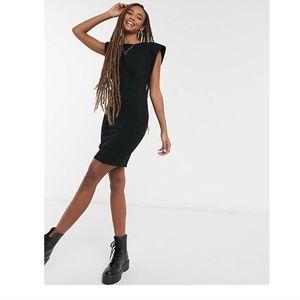 NWT ASOS DESIGN mini dress with shoulder pads